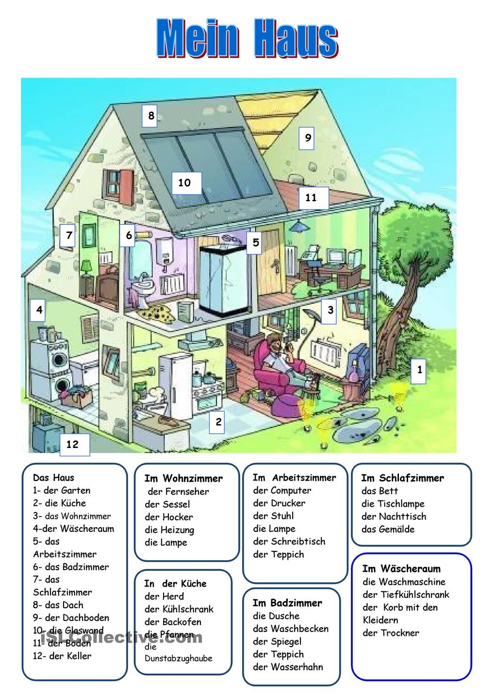 DAS HAUS | Deutsch | Pinterest | German, German language and Language
