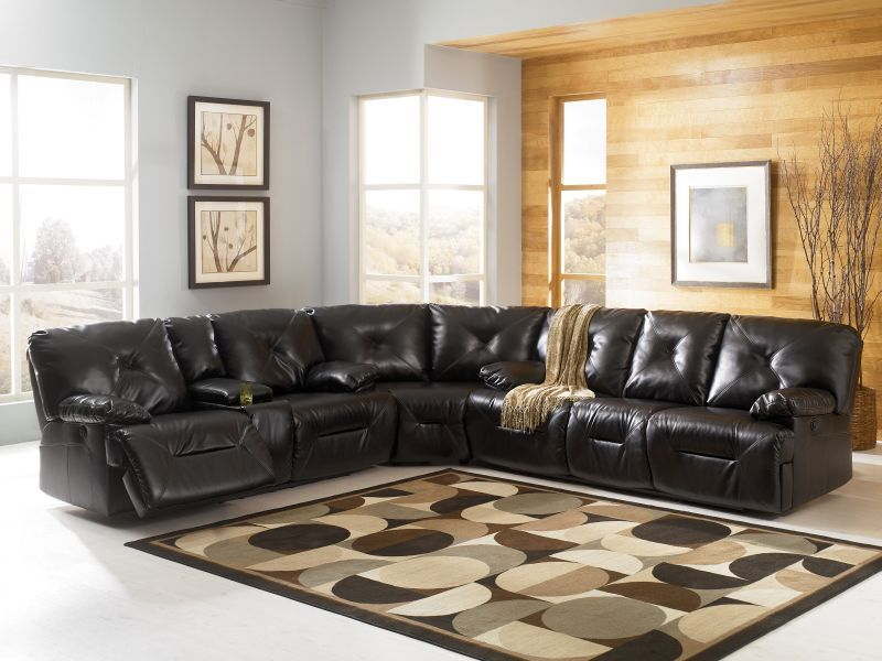 1 Black Complete Sectional 23700 Durablend Match Upholstery Features Durablend