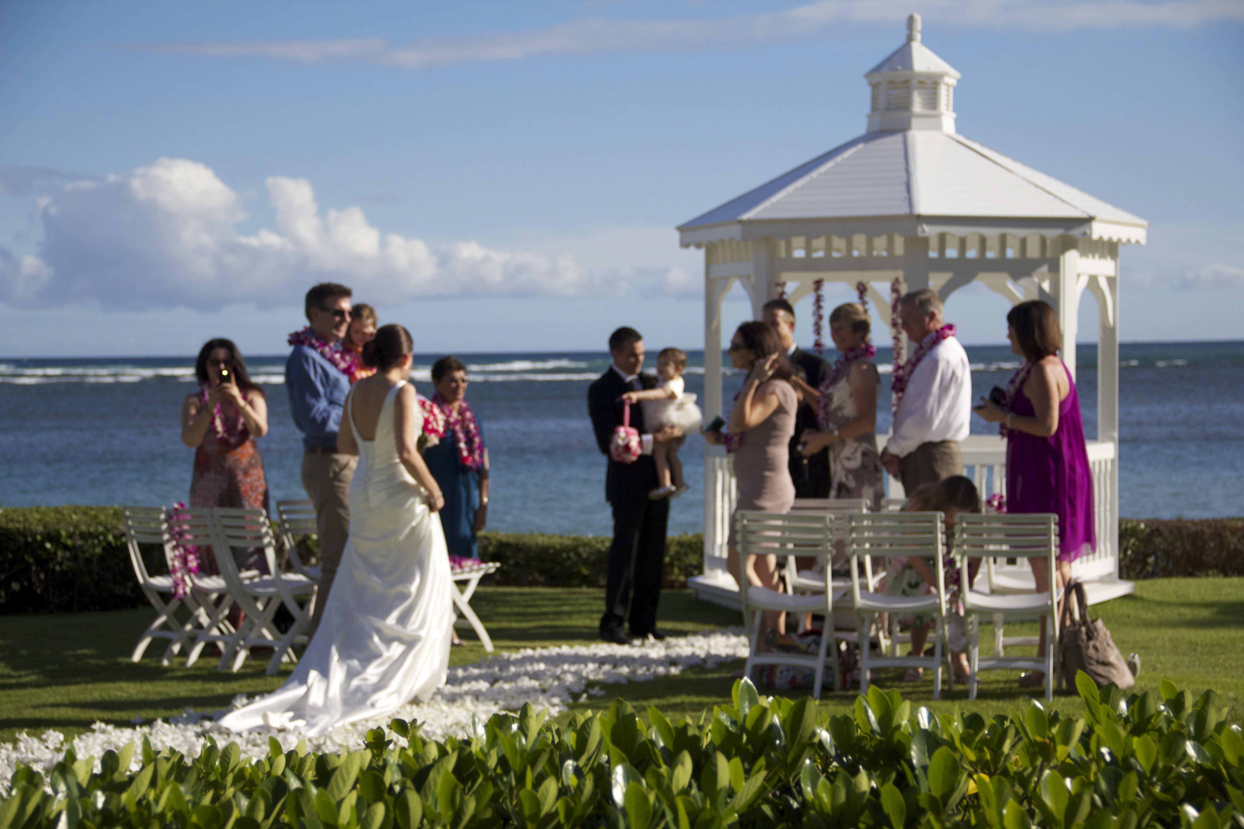 Beach Wedding Ceremony Oahu: A Beautiful Kahala Resort Ceremony Planned By Tori Rogers