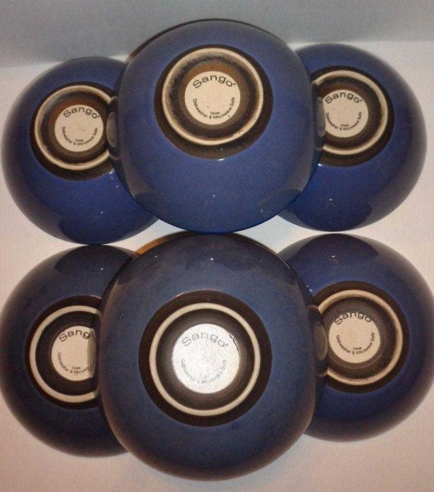 Sango CONCEPTS EGGPLANT Bowls Set of 6 #4942 #Sango #ContemporayChina & Sango CONCEPTS EGGPLANT Bowls Set of 6 #4942 #Sango ...