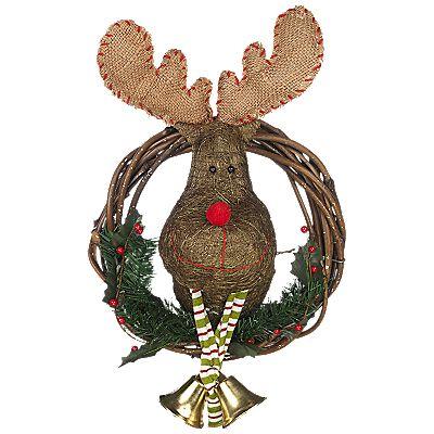 Buy Big Decs Christmas Moose Wreath online at JohnLewis - John - moose christmas decorations