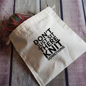 Photo of Knitting bag – Gifts for Knitters – Yarn Drawstring Bag – Knitting Accessories -…