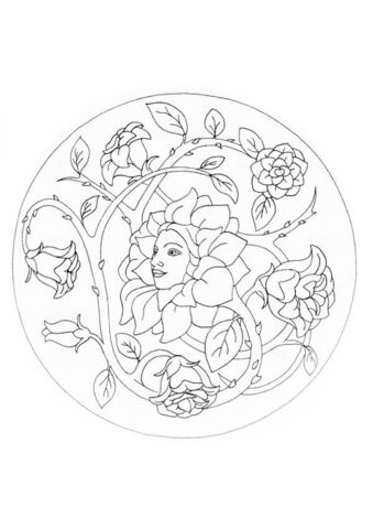 mandala mit blumen ausmalbild | mandala malvorlagen, blumen ausmalbilder, ausmalbilder