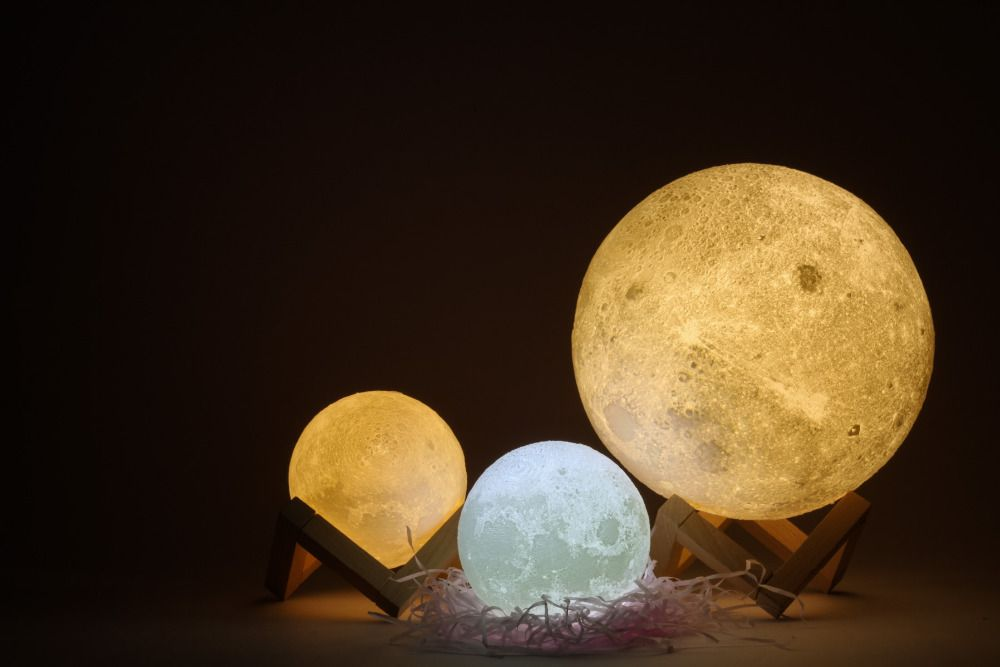 3d Magical Moon Led Night Light Moonlight Desk Lamp Usb Rechargeable 3 Light Colors Stepless For Home Decoration Christmas Dec Led Night Light Night Light Lamp