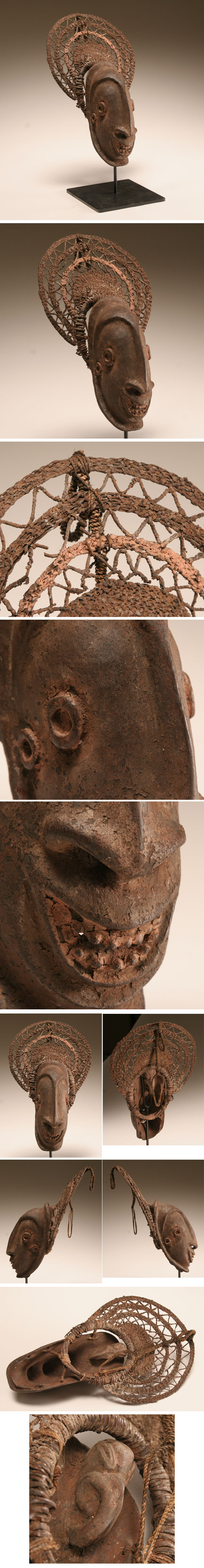 Oceanic Arapesh wooden ancestor spirit mask, Torricelli Mountains, New Guinea. | Antique Helper