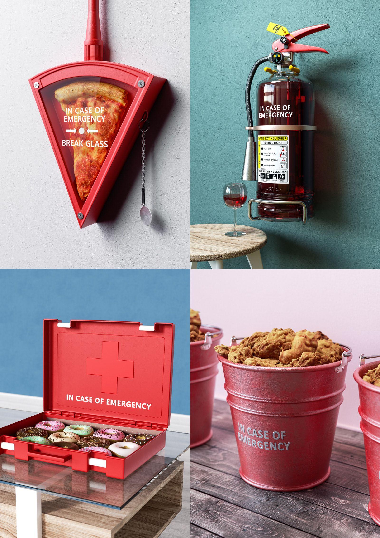 In Case Of Emergency Art Series On Behance In Case Of Emergency Art Series Packaging Design Inspiration