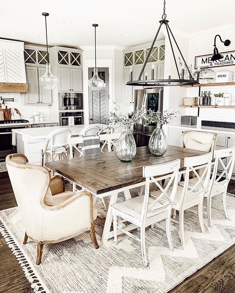 The kitchen is the heart of every home. Especially when it looks this good! @ourfauxfarmhouse hits the mark across the board with this beautiful kitchen! Featuring our Thornburg area rug, farmhouse accents and even a Google Home, she has effortlessly created a space we'd love to cook in! #boutiquerugs #arearug #modernrugs #farmhousedecor #farmhousestyle #moderndecor #modernstyle #styleyourspace #rugsofinstagram #ruglove #homedesign #interiorstyle #modernhome #ourhome #ourcustomersrock #reviews
