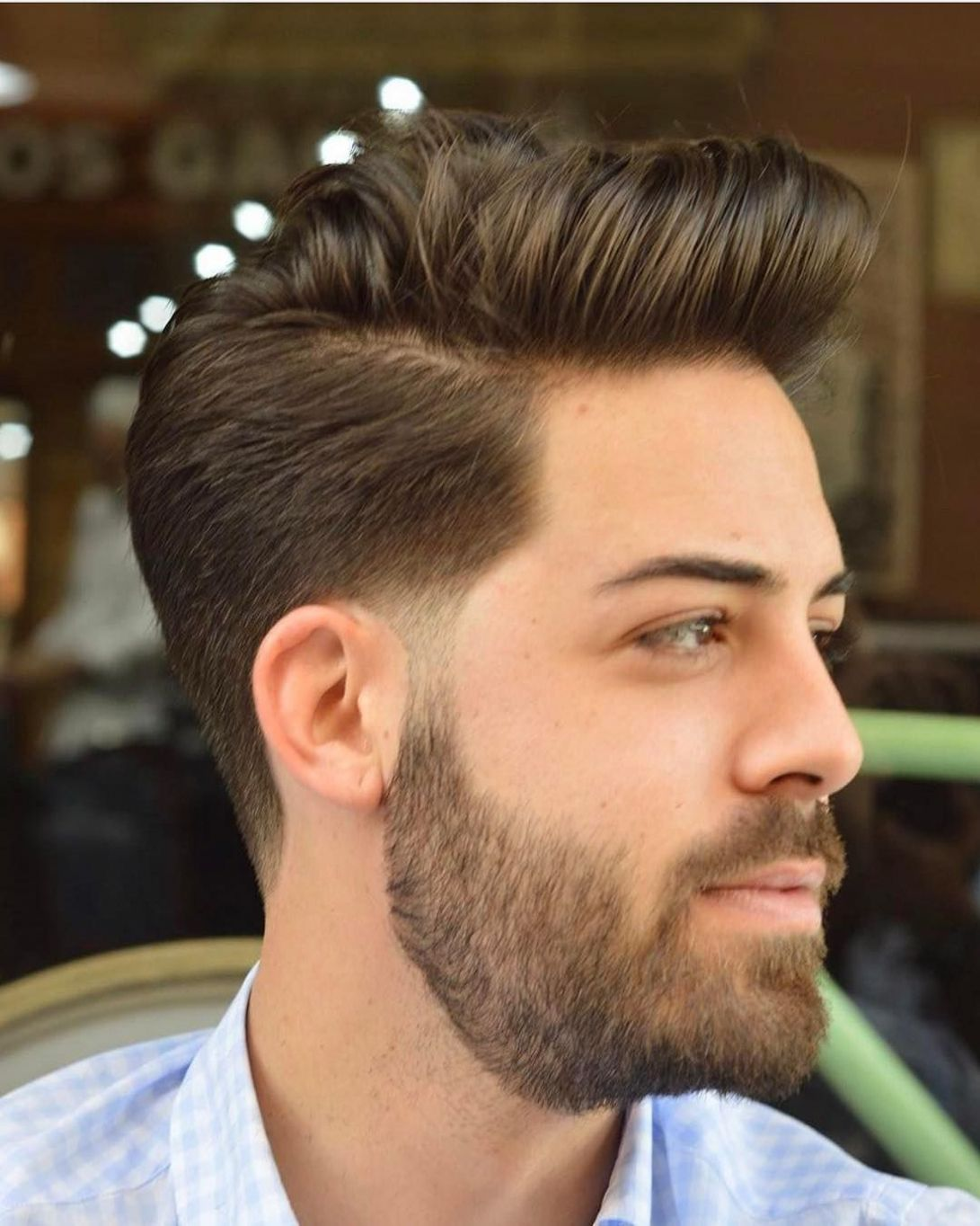 Astounding Mens Quiff Cool Win Handsome Men Hairstyle Mens Quiff Mens Hairstyles Beard Styles Hair And Beard Styles