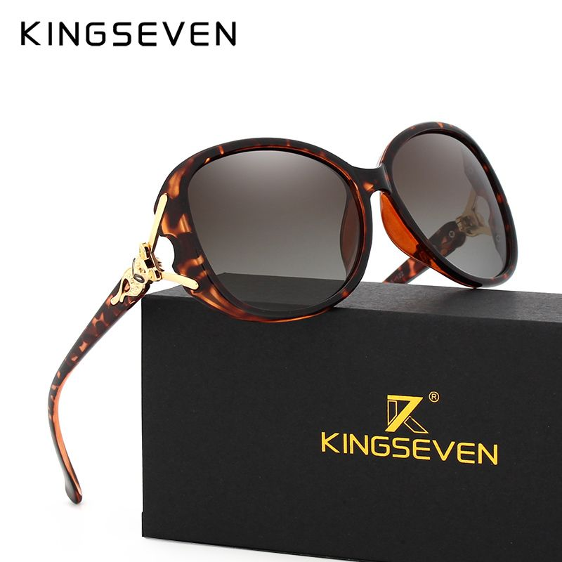e51f01f0a4 KINGSEVEN HD Sunglasses Polarized Retro Big frame Fox luxury Eyewear Lady  Brand Designer Sun glasses Oculos
