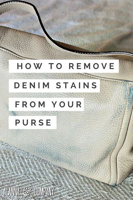 How To Remove Denim Stains From Your Purse Stains