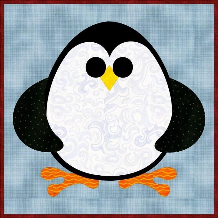 Free Quilt Pattern: Penguin Cheer Mug Rug   Applikation   Pinterest ...