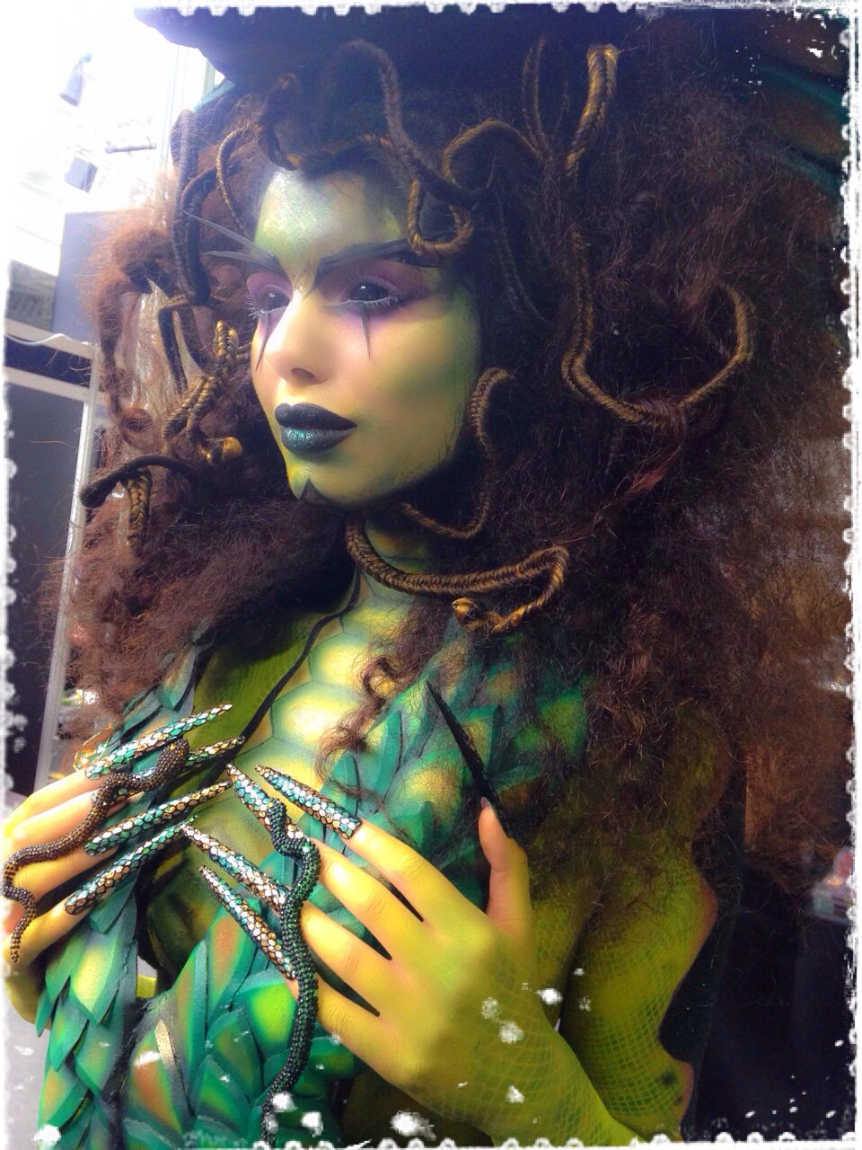 First Image From My Human Emotion Series Envy Created At Imats London Medusa Makeup Makeup Creative Makeup