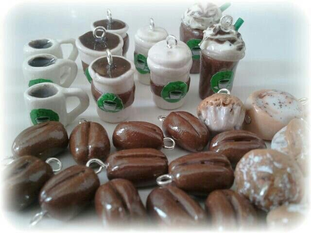 Polymer clay coffee charm collection