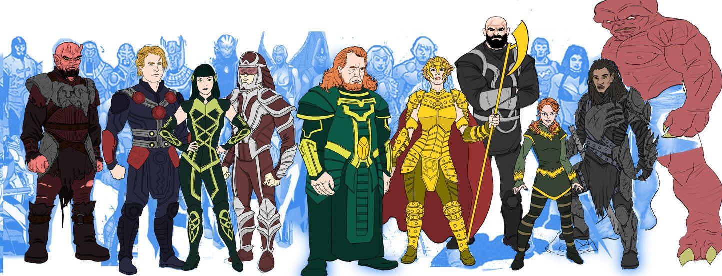 Eternals Marvel Movie Universe Redesigns By Https Www Deviantart Com Needham Comics On Deviantart Marvel Movies Marvel Comics