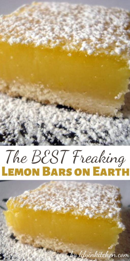 The BEST Freaking Lemon Bars on Earth – Recipes