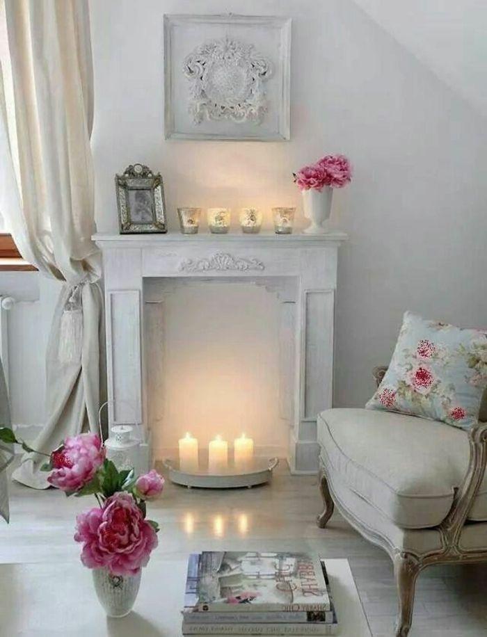 la deco chambre romantique 65 id es originales cozy shabby country home. Black Bedroom Furniture Sets. Home Design Ideas
