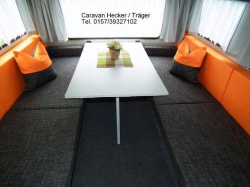 wohnwagen polster neu qek junior aero und andere vers. Black Bedroom Furniture Sets. Home Design Ideas