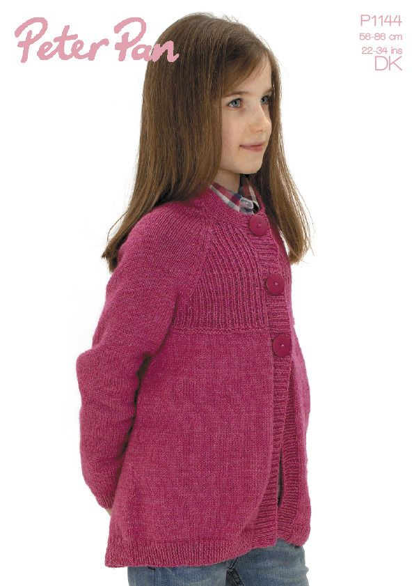3 Buttons Jacket in Peter Pan DK 50g | Knitting Patterns ...