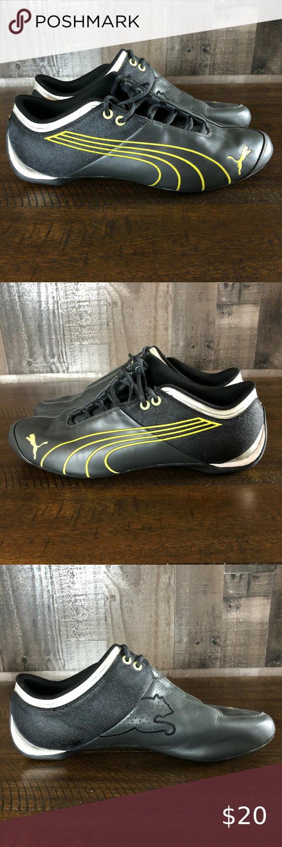 Puma Sport Lifestyle Black/Green Running Sneakers
