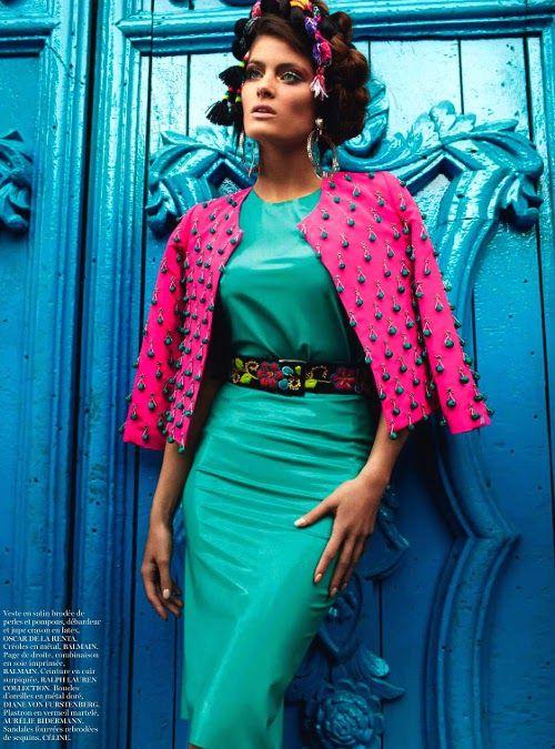 leahcultice:    Isabeli Fontana for Vogue Paris April 2013 by Mario Testino