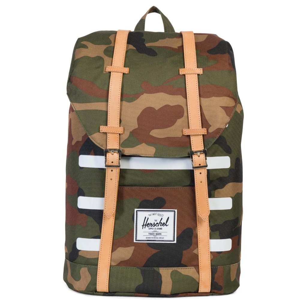 808c482136cb Herschel Supply Co. Retreat Backpack - Woodland Camo Stripe Veggie Tan  Leather