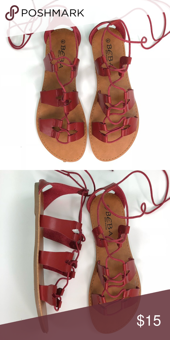 0668454ae82 Dark red sandals ❤ Just like in the picture Excellent conditions Really  cute Sandals size 11 they run small like a size 10 Shoes Sandals