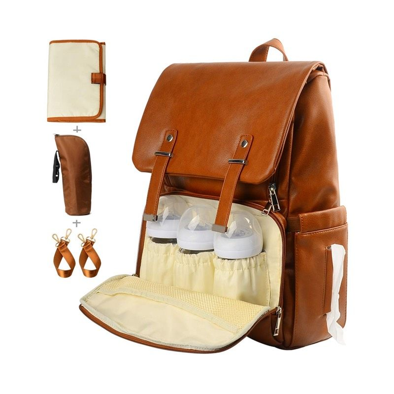 54 99 Leather Diaper Bag Backpack Nappy Bag Baby Bags For Mom Unisex Maternity Dia Leather Diaper Bag Backpack Diaper Bag Backpack Baby Backpack Diaper Bag