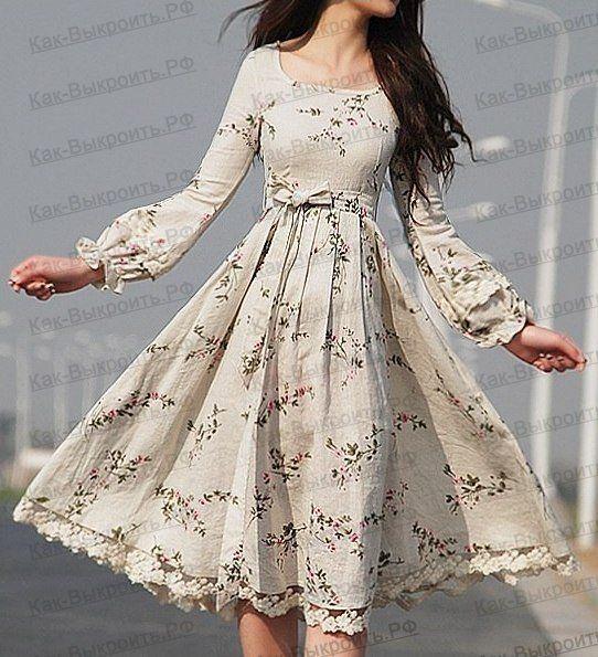 Как сшить винтажное платье из льна | Fashion dresses, Evening outfit casual, Wonderful clothes