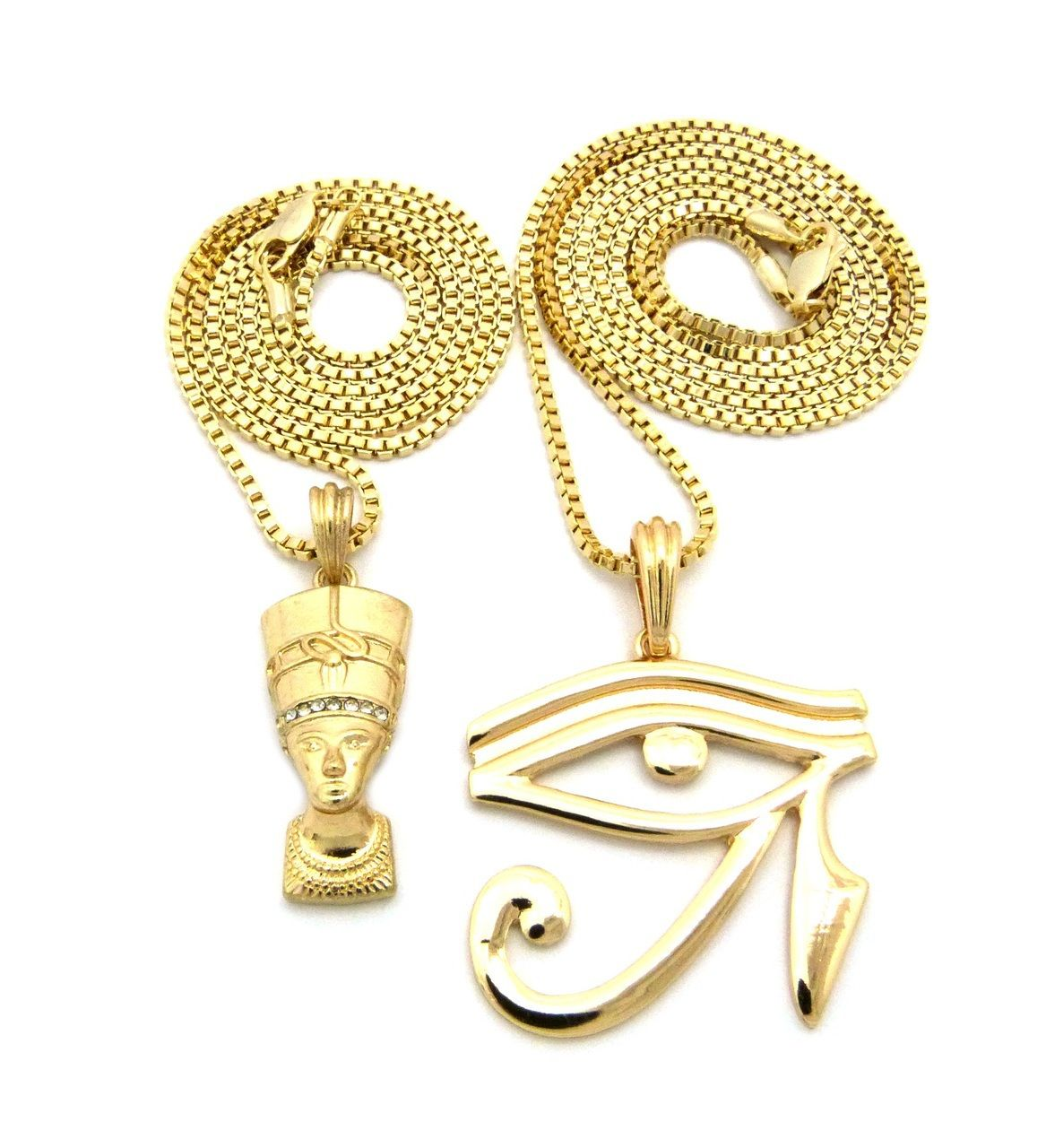 Egyptian queen nefertiti pendant eye of ra bling chain necklace egyptian queen nefertiti pendant eye of ra bling chain necklace mozeypictures Choice Image