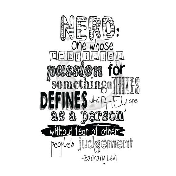 Download Wise Sayings About Life: Nerd Zachary Levi Quote Digital Download By