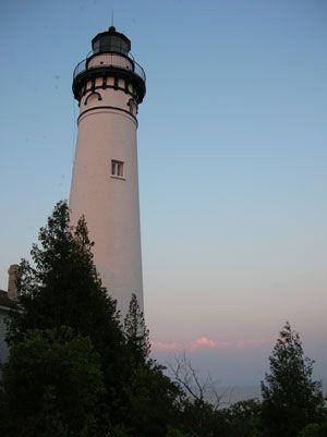 South Manitou Island Lighthouse near Sleeping Bear Dunes National Lakeshore…