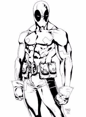 imagenes de deadpool para dibujar a lapiz | Peliculas de Marvel ...