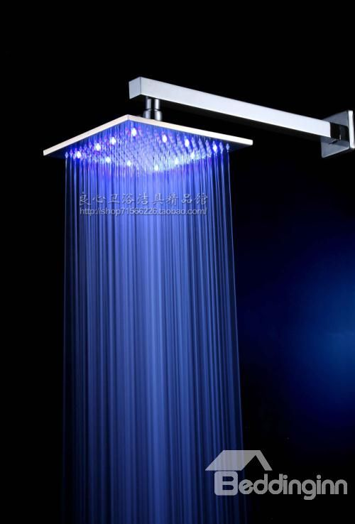 10 Inch Led Lighting Rainfall Shower Head Led Shower Head