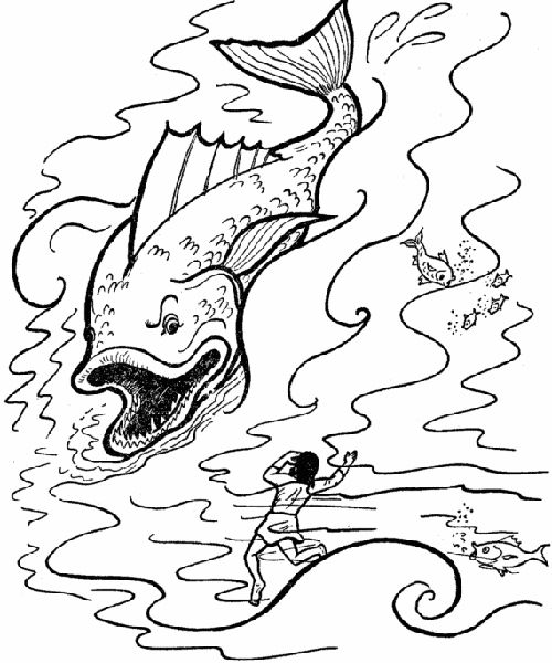 Jonah and The Whale Coloring Pages | Pinterest
