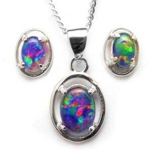 australian opal necklace - Google Search