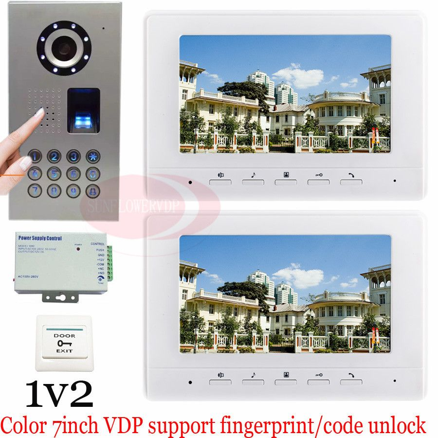1v2 Fingerprint/Code Entsperren Video-türsprechanlage Video ...