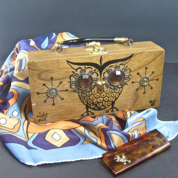 Vintage Enid Collins Night Owl purse