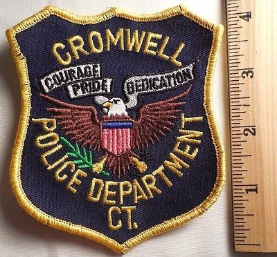 Cromwell Connecticut Police Patch (highway Patrol, Sheriff, Ems)