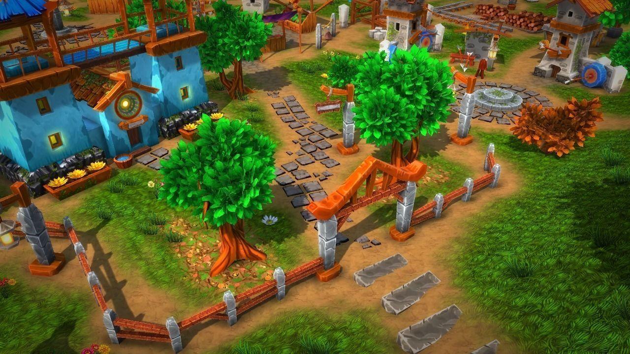 Fantasy village and tower defense 3d model fantasy