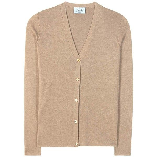 Prada Cashmere and Silk Cardigan ($780) ❤ liked on Polyvore ...