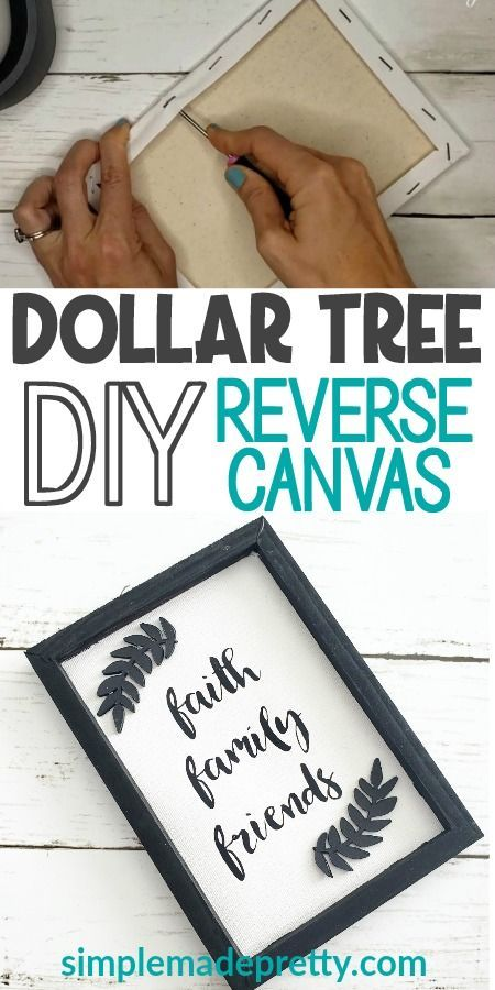 DIY Reverse Canvas Dollar Tree Sign
