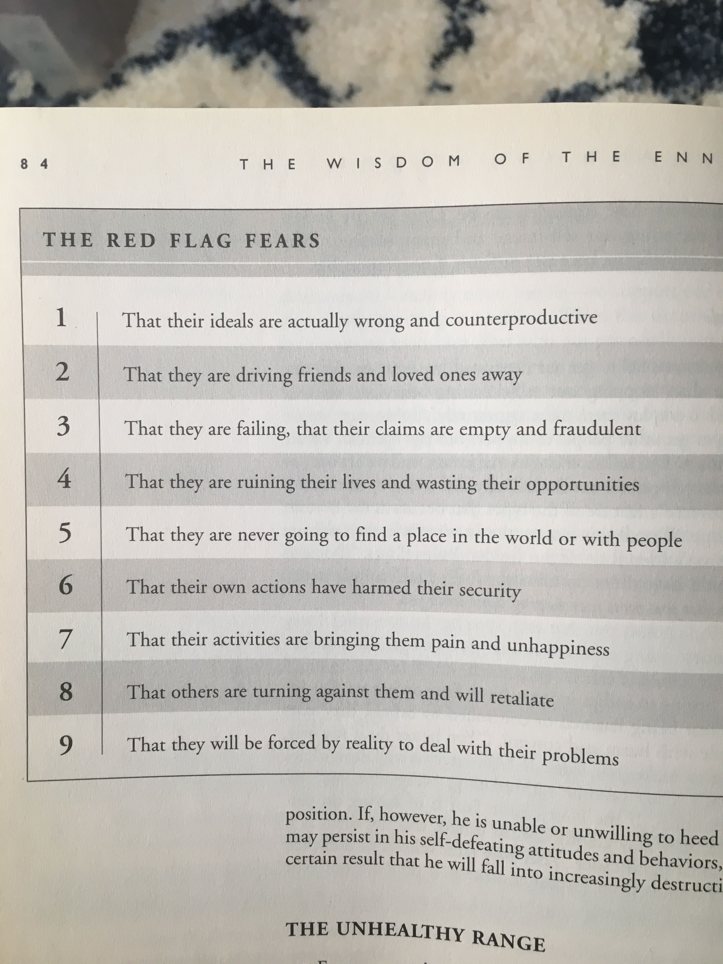 Red Flags [chart] - How each Enneagram type acts just before