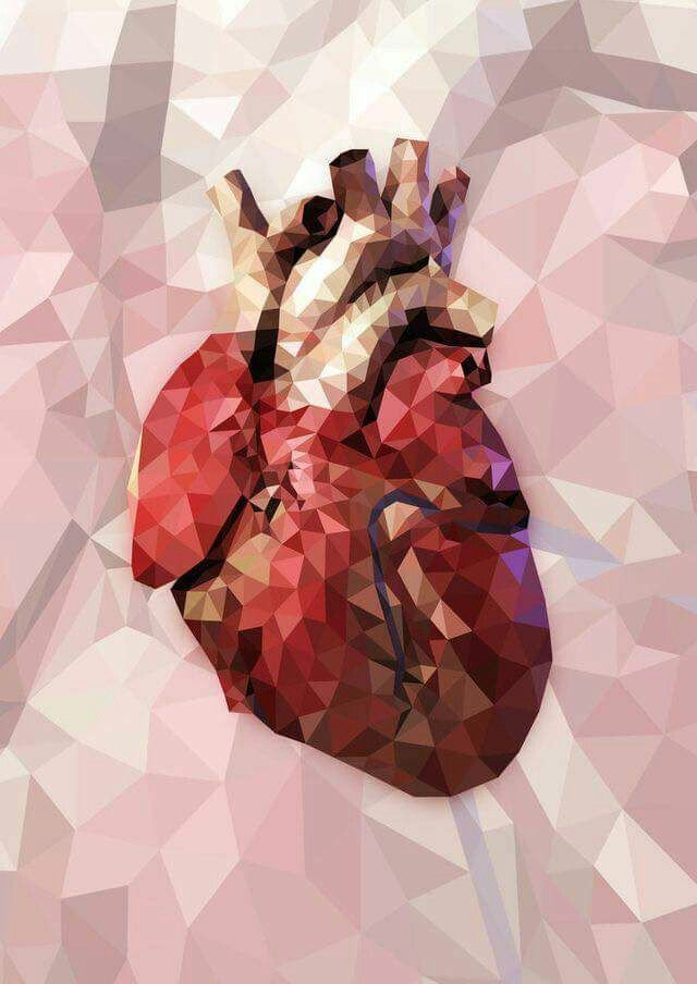 Heart art defracted light watercolor | Doodles | Pinterest | Heart ...