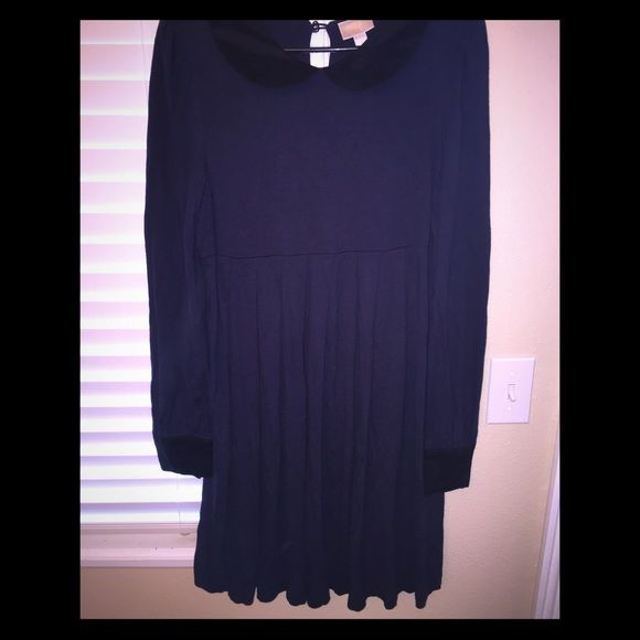 LOWER PRICE!!! Erin Fetherston Black/Blue Dress Erin Fetherston black and blue Peter Pan collar mini dress. Adorable! Never worn. Size 13. ERIN by Erin Fetherston Dresses Mini