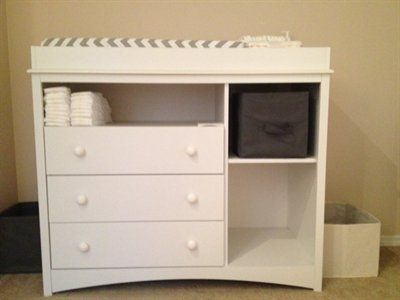 Attractive South Shore Peek A Boo Changing Table   Pure White