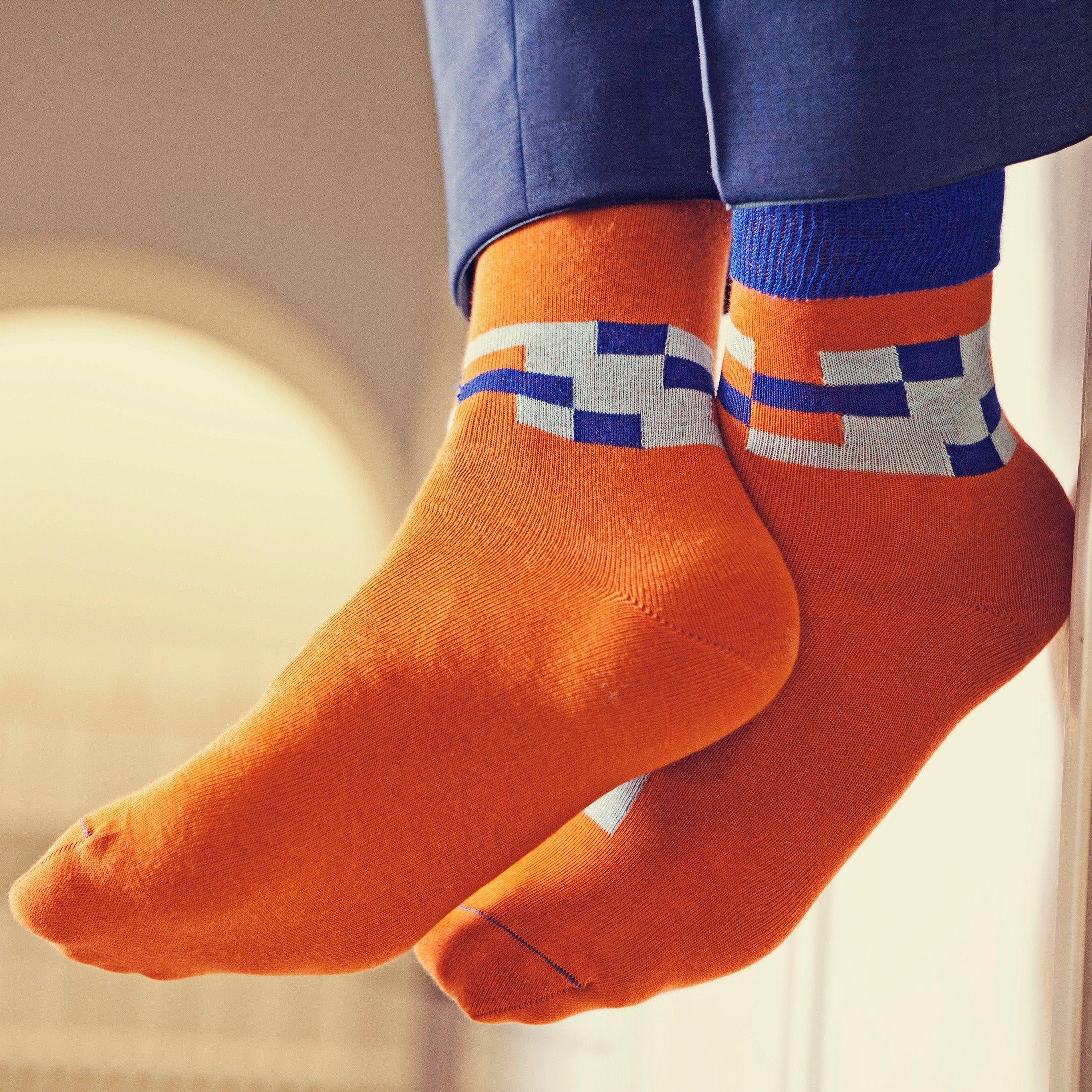 Männer Socke Tempel Designkollektion 'Blaustich'