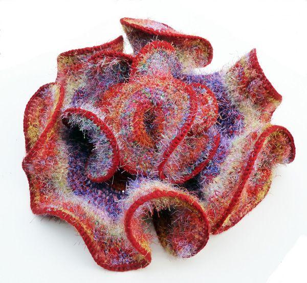 Daina Taimina - Fuzzy Web Crochet Sculpture | Crochet Freeform Art ...