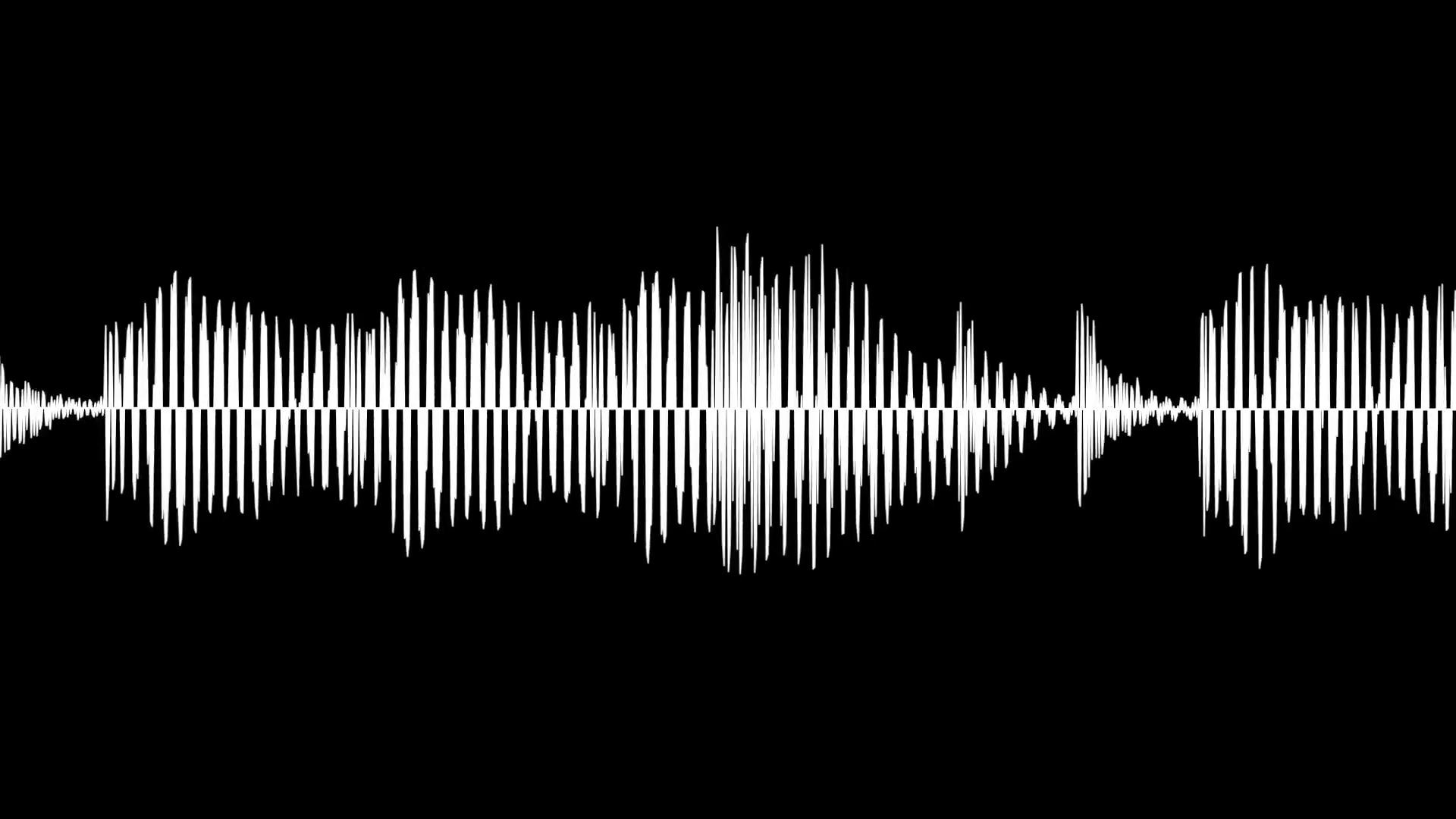 Audio waveform animation, simple black and white sound