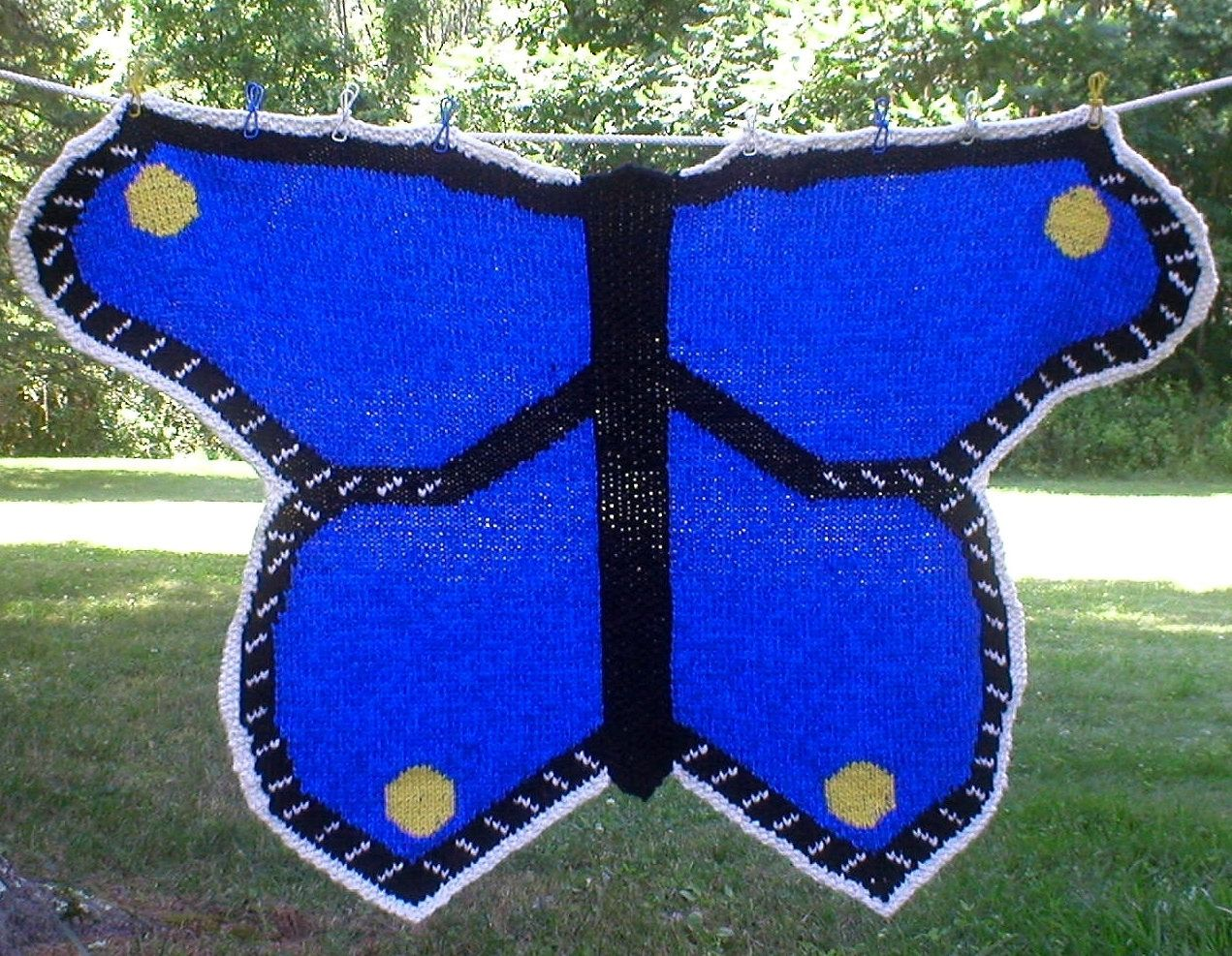Knitting Pattern for Butterfly Baby Blanket - The design of this ...