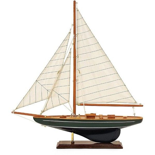 Regent Small Emerald Isle Sailboat ($74) ❤ liked on Polyvore featuring home, home decor, green, green home decor, handmade home decor and emerald green home decor